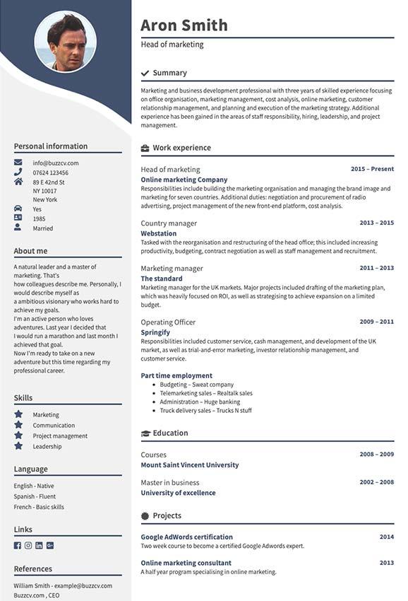 Popular CV template starfall big