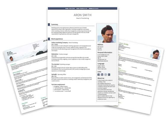 ProfessionalCV templates